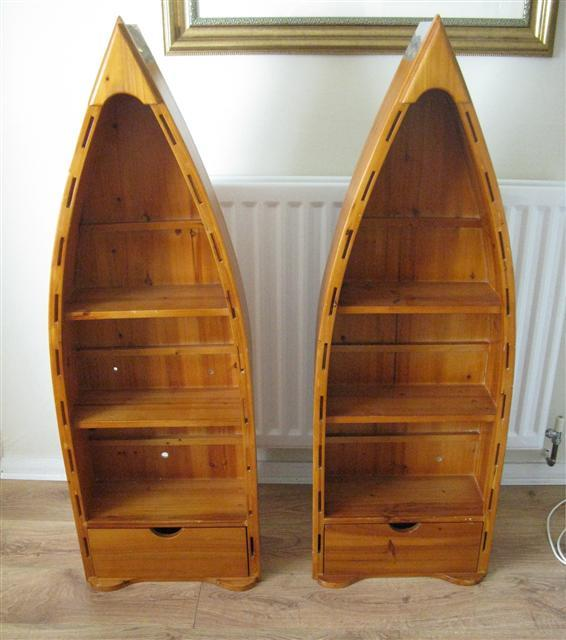 canoe bookshelves