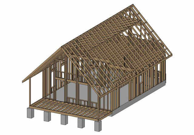 Wood 24x24 cabin plans with loft pdf plans for How to build a small cabin with a loft