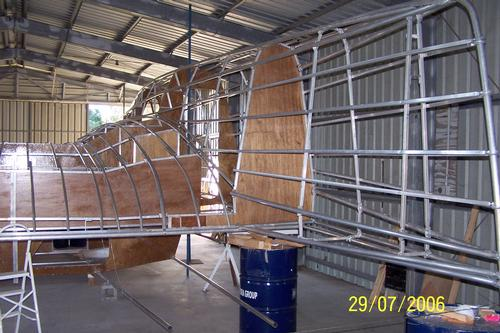 how to build catamaran from the barels