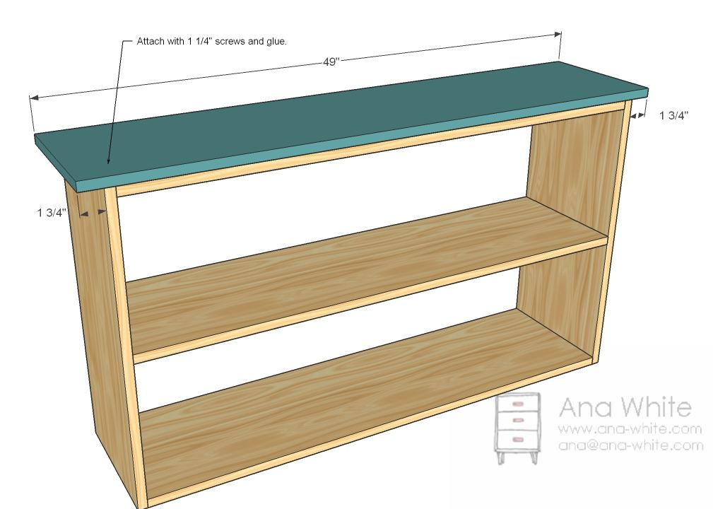 bookcase plywood plans
