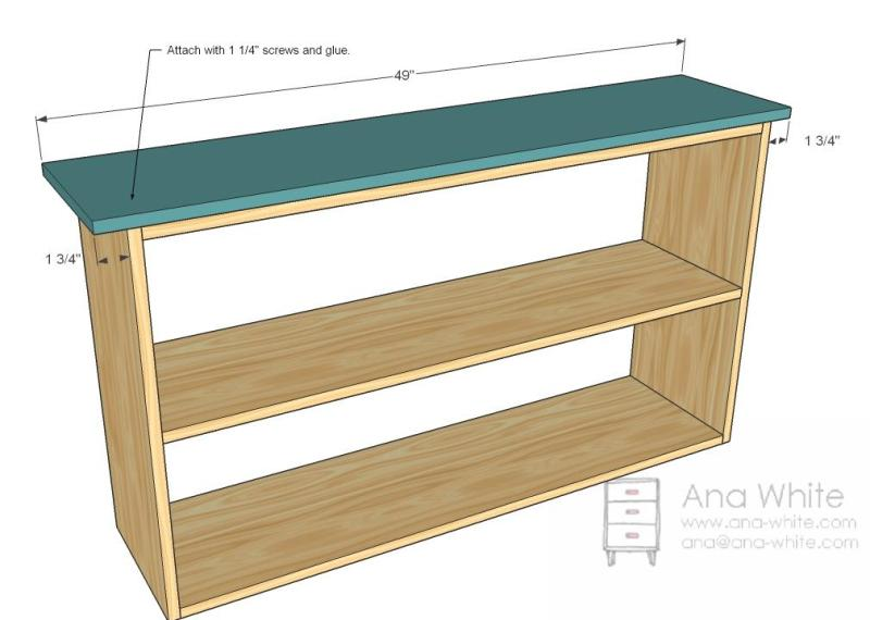 bookshelf blueprint plans