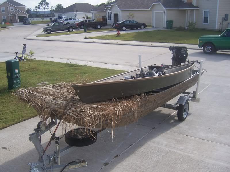 Homemade Duck Boat Blinds 41