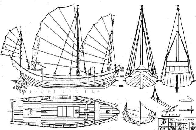 Junk Sailboat How To DIY Download PDF Blueprint UK US CA Australia Netherlands. | DIY Small Wood ...