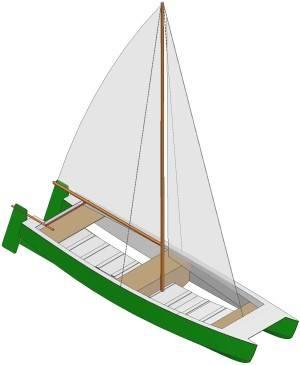 Complete Catamaran boat plans kits | perahu kayu
