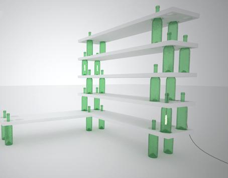 Wine Bottle Shelves