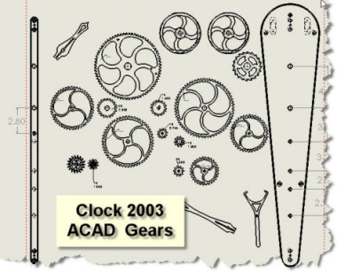 clock building kit wood